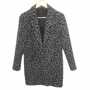 Lucky Brand Pea Coat Floral Black Mid Length XS